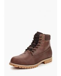 Мужские коричневые кожаные рабочие ботинки от Affex