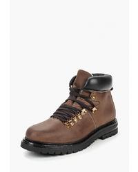 Мужские коричневые кожаные рабочие ботинки от Airbox