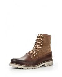 Мужские коричневые кожаные рабочие ботинки от Buffalo