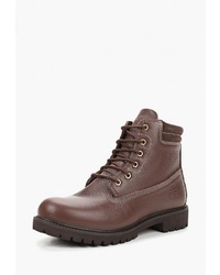Мужские коричневые кожаные рабочие ботинки от Darkwood