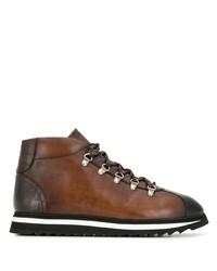 Мужские коричневые кожаные рабочие ботинки от Doucal's