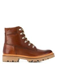Мужские коричневые кожаные рабочие ботинки от Grenson
