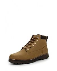 Мужские коричневые кожаные рабочие ботинки от Quiksilver