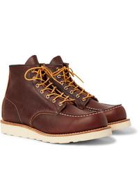 Мужские коричневые кожаные рабочие ботинки от Red Wing Shoes