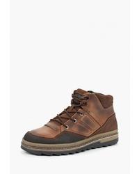 Мужские коричневые кожаные рабочие ботинки от SHOIBERG