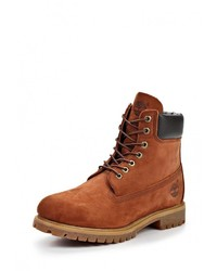 Мужские коричневые кожаные рабочие ботинки от Timberland