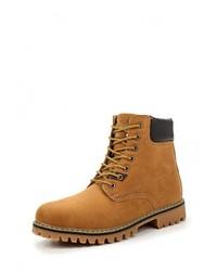 Мужские коричневые кожаные рабочие ботинки от Tony-p