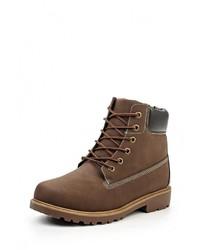 Мужские коричневые кожаные рабочие ботинки от YMD