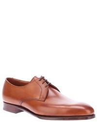 Коричневые кожаные туфли дерби