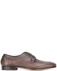 Мужские коричневые кожаные туфли дерби от Fabi