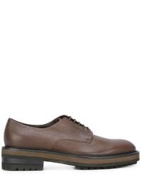 Мужские коричневые кожаные туфли дерби от Fratelli Rossetti