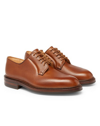 Коричневые кожаные туфли дерби от George Cleverley