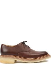 Коричневые кожаные туфли дерби от Grenson