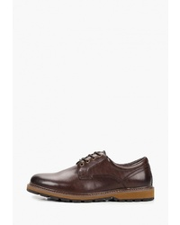 Коричневые кожаные туфли дерби от M.Shoes
