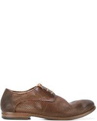 Мужские коричневые кожаные туфли дерби от Marsèll