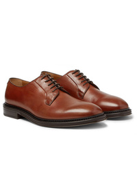 Коричневые кожаные туфли дерби от Mr P.