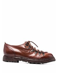 Коричневые кожаные туфли дерби от Officine Creative