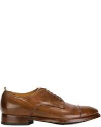 Мужские коричневые кожаные туфли дерби от Officine Creative