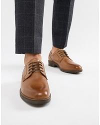 Коричневые кожаные туфли дерби от Red Tape