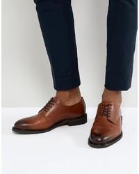 Коричневые кожаные туфли дерби от Selected Homme