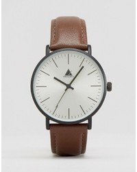 Мужские коричневые кожаные часы от Asos