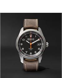 Мужские коричневые кожаные часы от Bremont