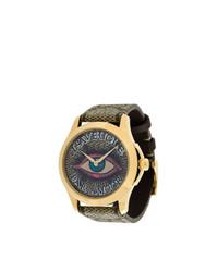 Мужские коричневые кожаные часы от Gucci