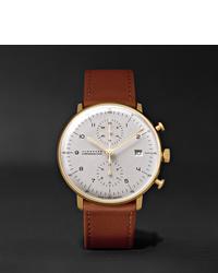 Мужские коричневые кожаные часы от Junghans