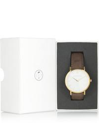 Женские коричневые кожаные часы от Larsson & Jennings