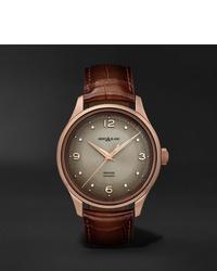 Мужские коричневые кожаные часы от Montblanc