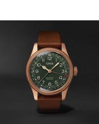 Мужские коричневые кожаные часы от Oris