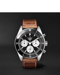 Мужские коричневые кожаные часы от Tag Heuer