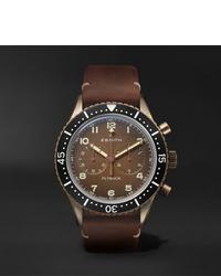 Мужские коричневые кожаные часы от Zenith