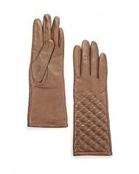 Женские коричневые перчатки от Eleganzza