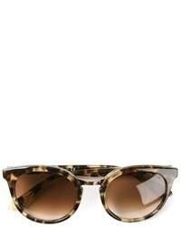 Коричневые солнцезащитные очки с леопардовым принтом