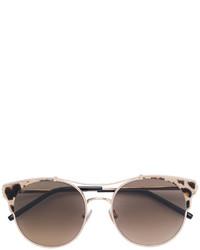 Женские коричневые солнцезащитные очки с леопардовым принтом