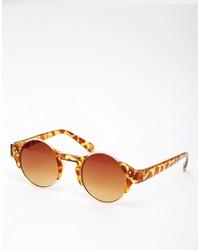 Женские коричневые солнцезащитные очки с леопардовым принтом от Asos