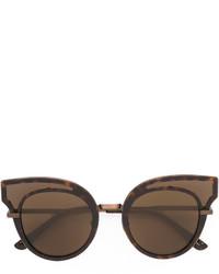 Женские коричневые солнцезащитные очки с украшением от Bottega Veneta