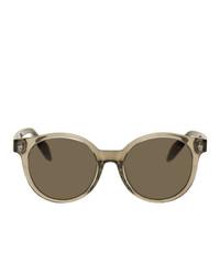 Мужские коричневые солнцезащитные очки от Alexander McQueen