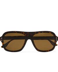 Мужские коричневые солнцезащитные очки от Bottega Veneta