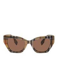 Мужские коричневые солнцезащитные очки от Burberry