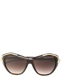 Женские коричневые солнцезащитные очки от Cartier