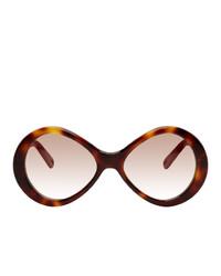 Женские коричневые солнцезащитные очки от Chloé