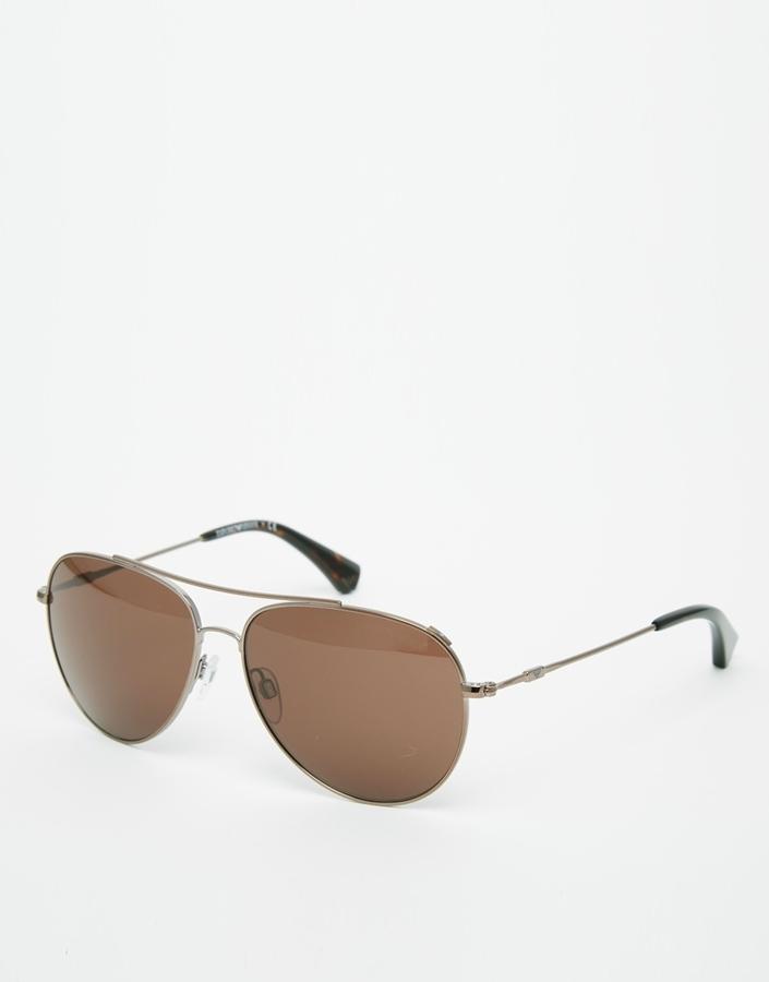 Мужские коричневые солнцезащитные очки от Emporio Armani   Где ... 825182386dc
