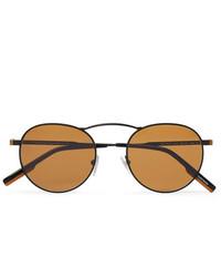 Мужские коричневые солнцезащитные очки от Ermenegildo Zegna