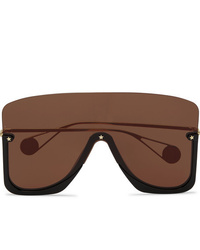 Мужские коричневые солнцезащитные очки от Gucci
