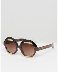 Женские коричневые солнцезащитные очки от Monki