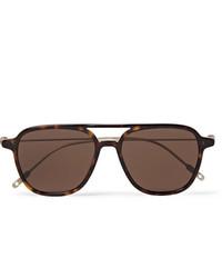 Мужские коричневые солнцезащитные очки от Montblanc