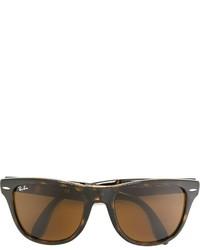 Мужские коричневые солнцезащитные очки от Ray-Ban