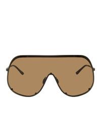 Мужские коричневые солнцезащитные очки от Rick Owens